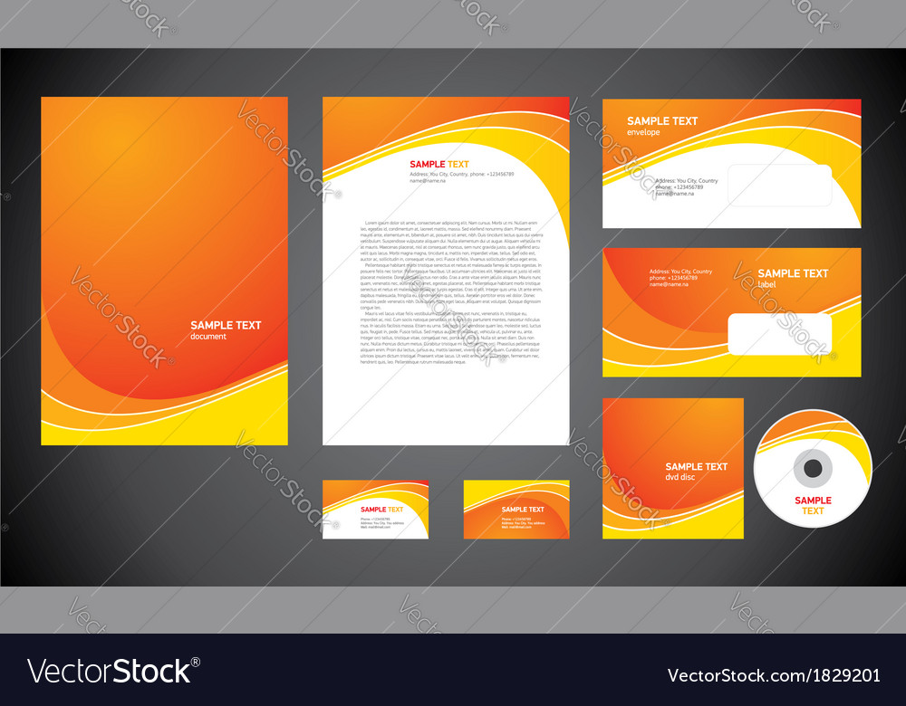 Abstract creative corporate identity line wave vector