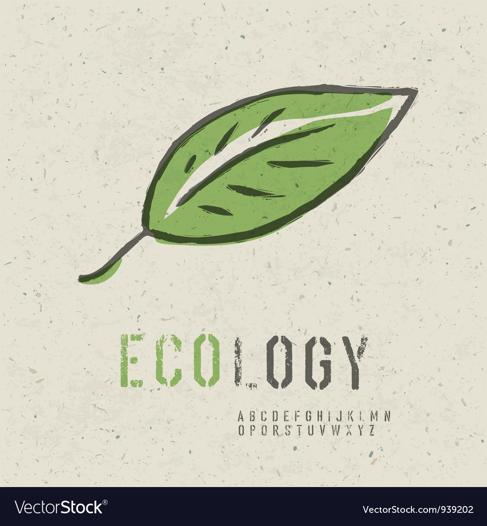 Ecology concept green leaf image vector