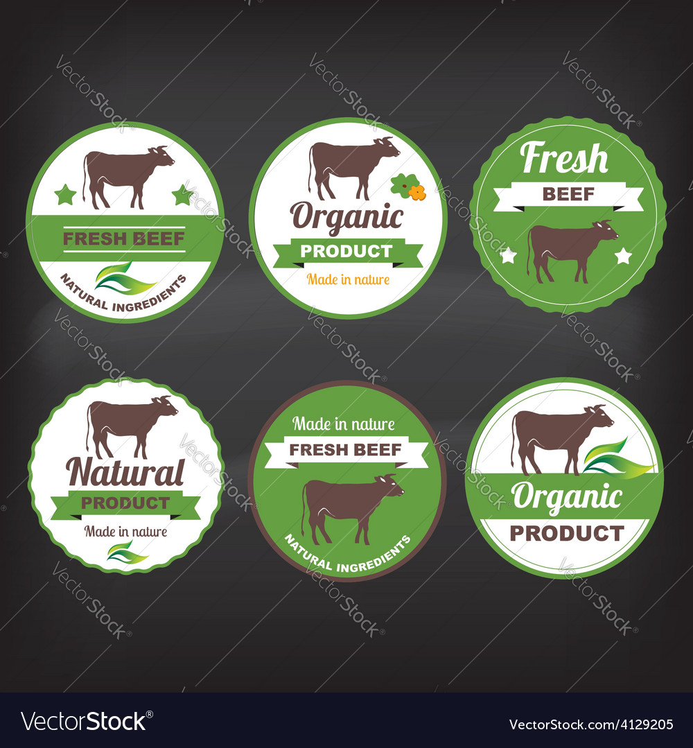 Meat labels vector