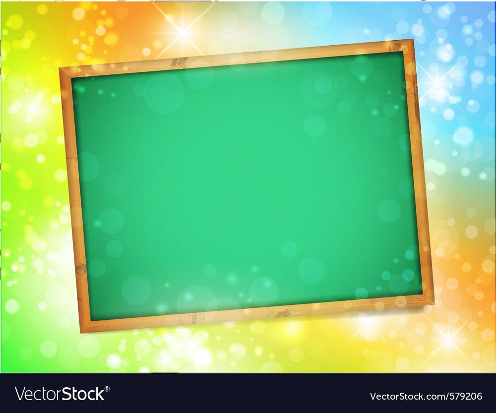 Blackboard glow vector