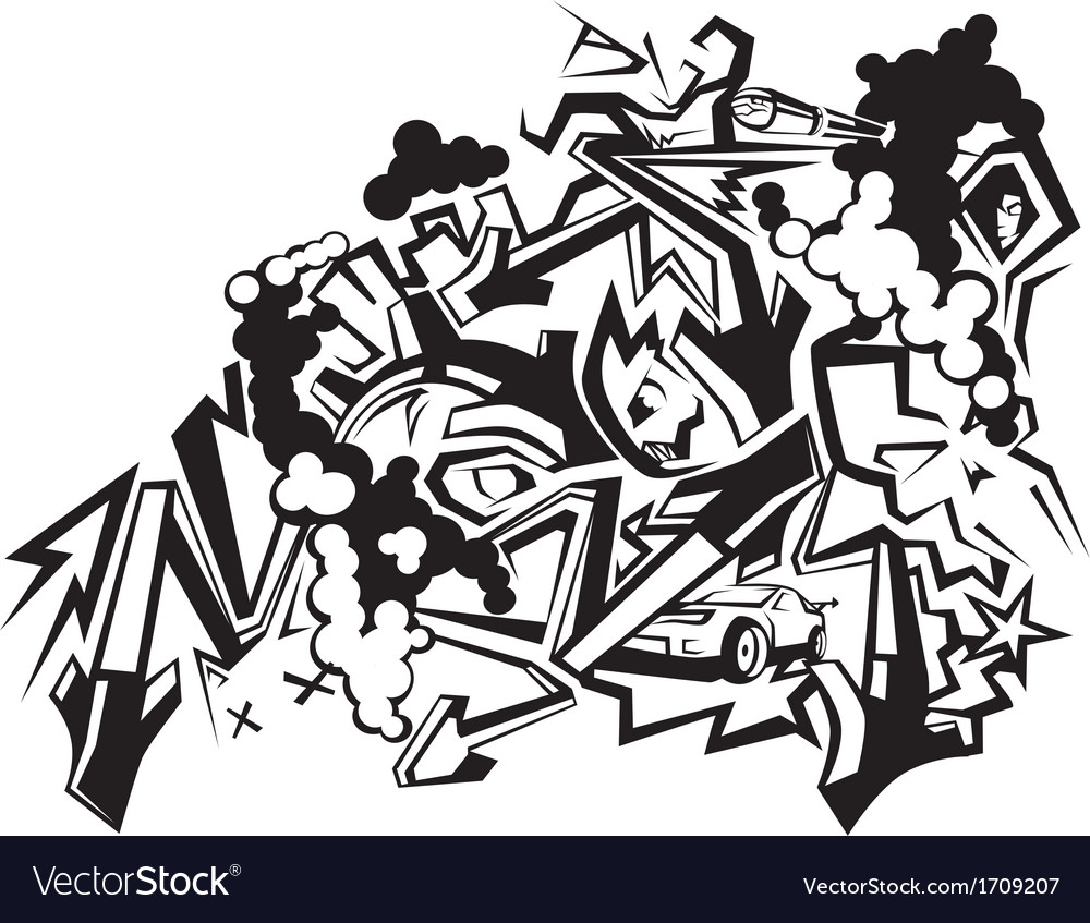 Graffiti art 1 vector
