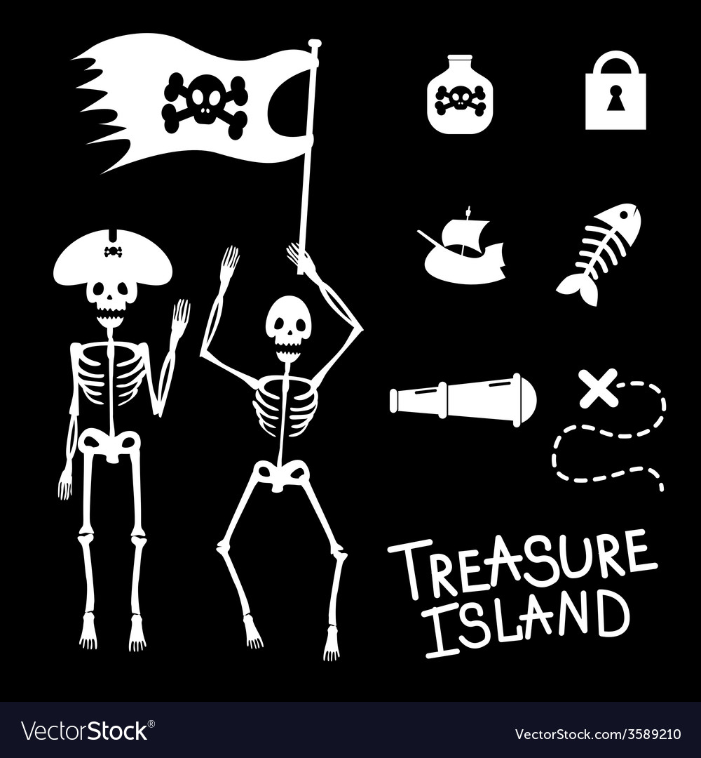 Pirates and game icons vector