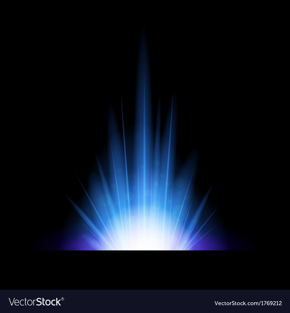 Abstract background with blue lighting flare vector