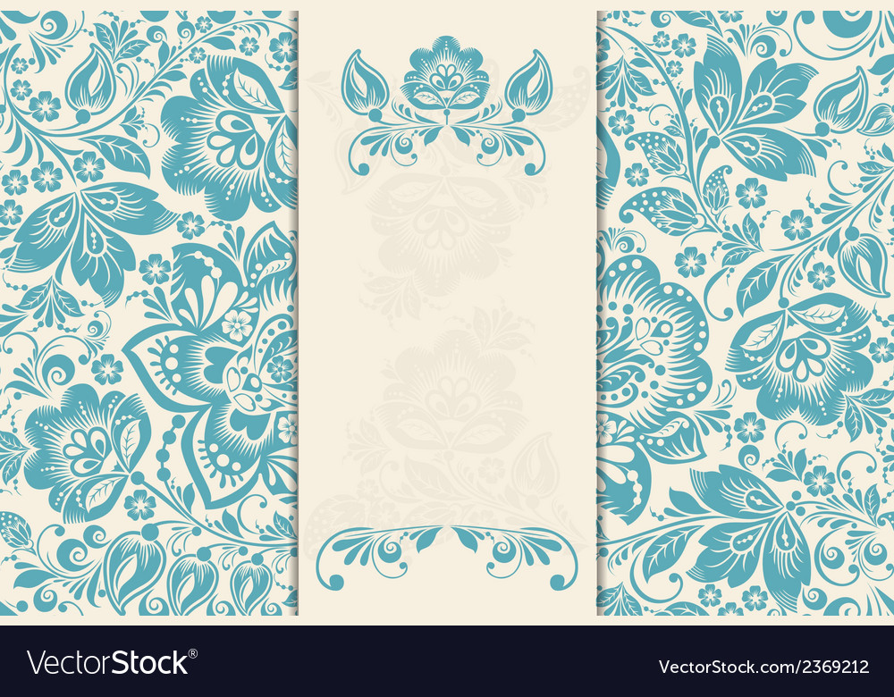 Elegant background with lace ornament and place vector