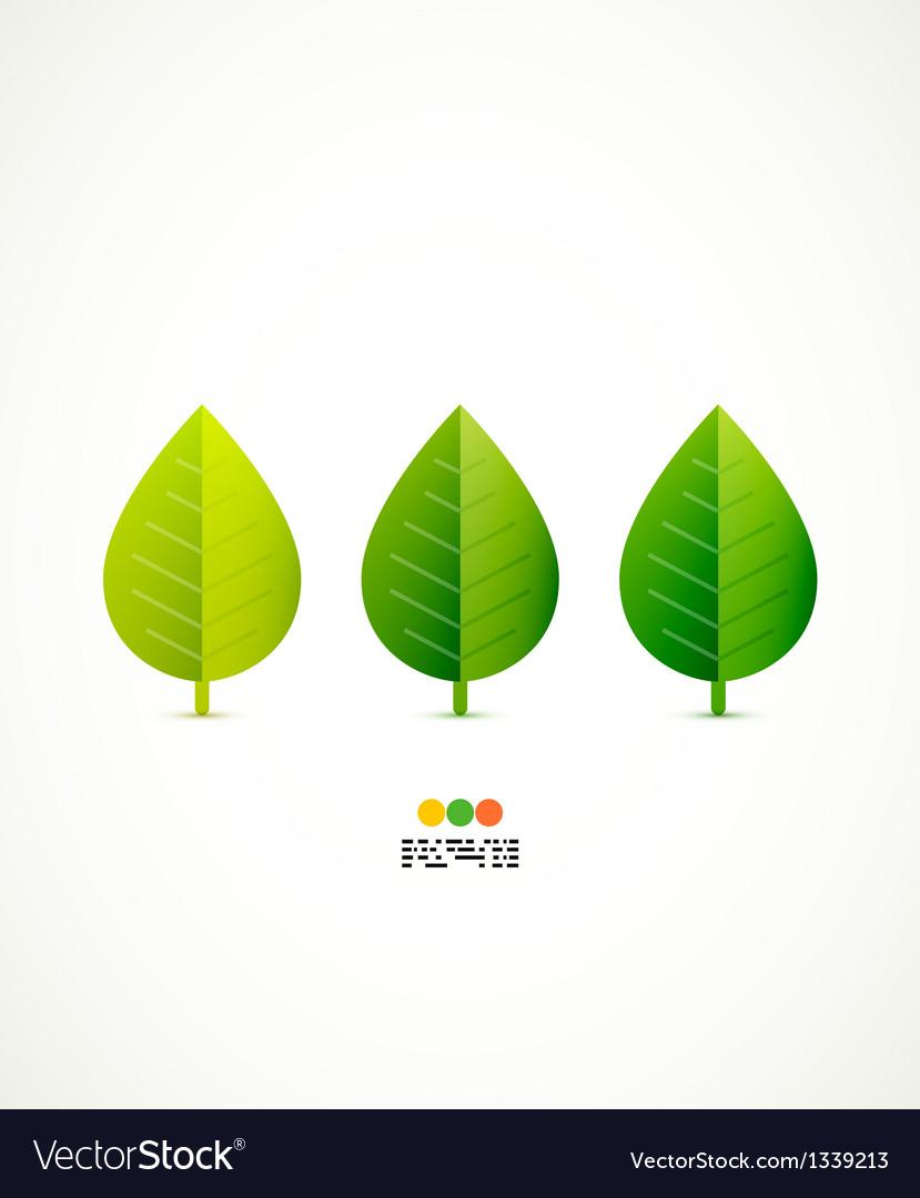 Green leaf concept vector