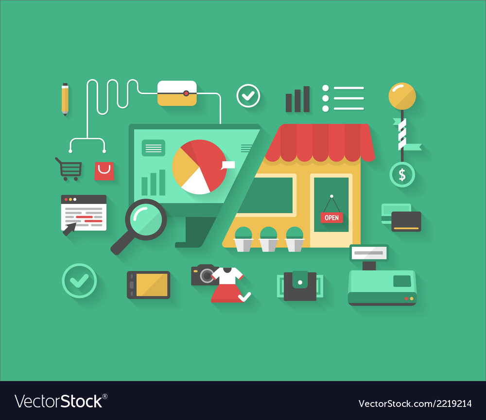 E-commerce and retail shopping vector