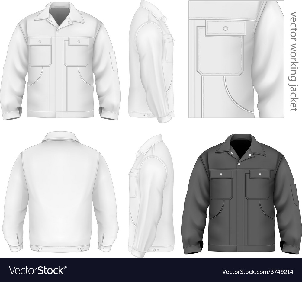 Men work jacket vector