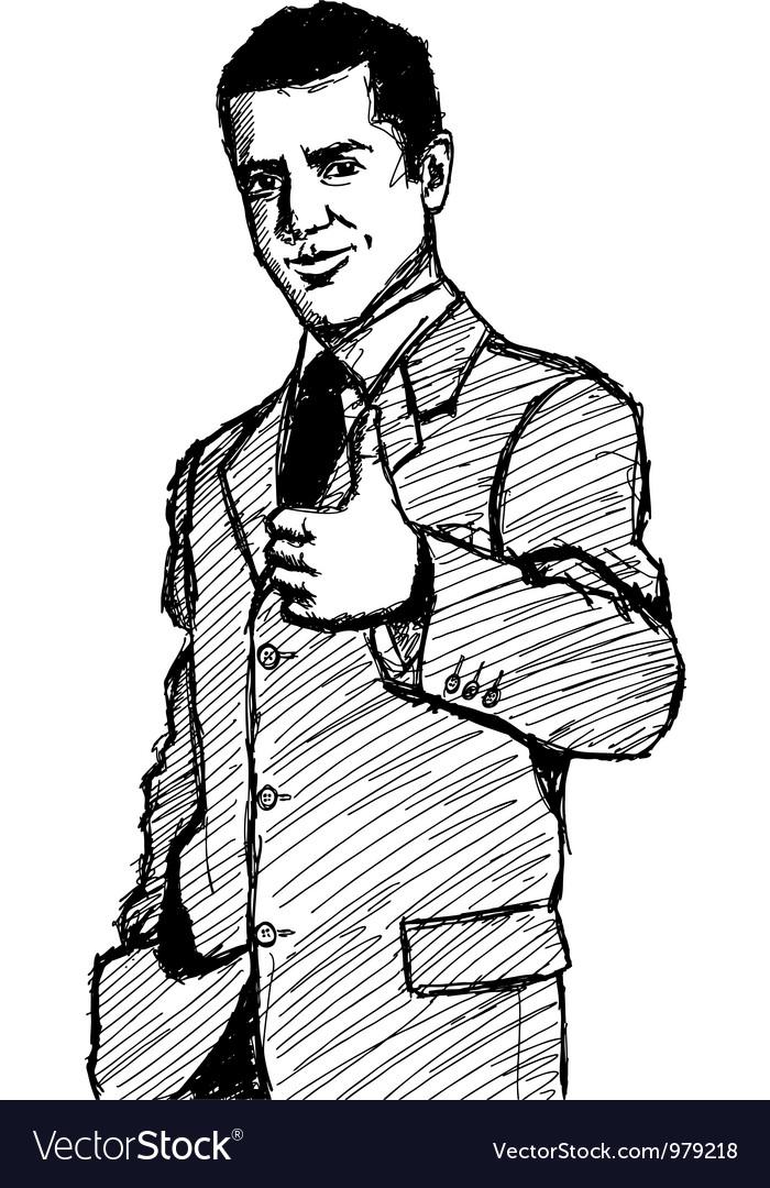 Businessman well done vector