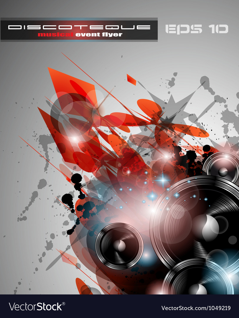 Disco dj party vector