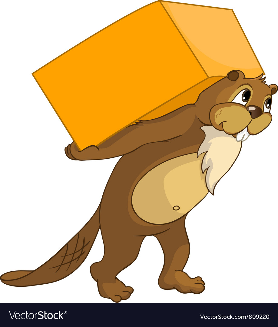 Beaver crees look for funny beaver by keyword vector