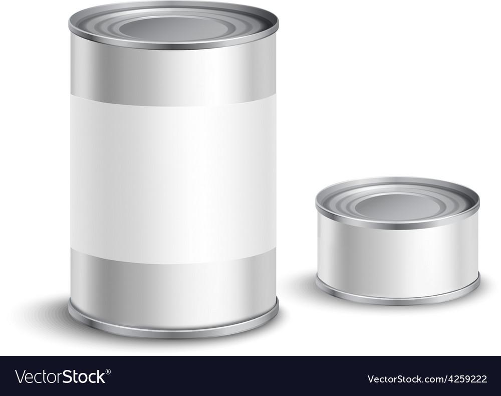Tin can set vector