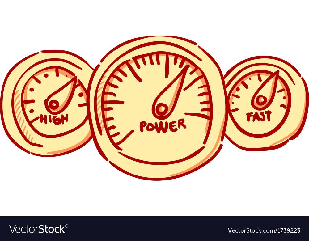 Speedometer dashboard vector