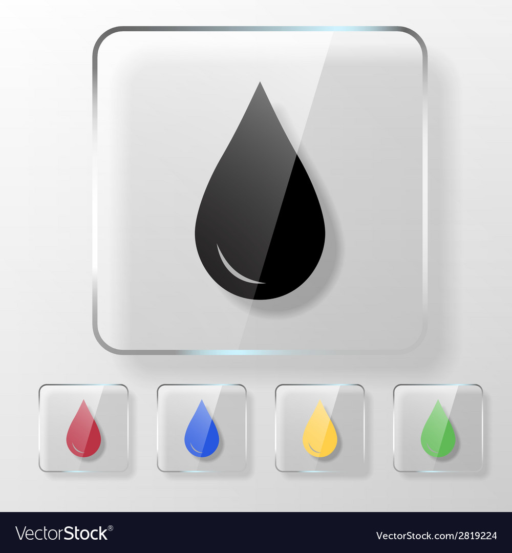 Water oil or blood drop icon vector