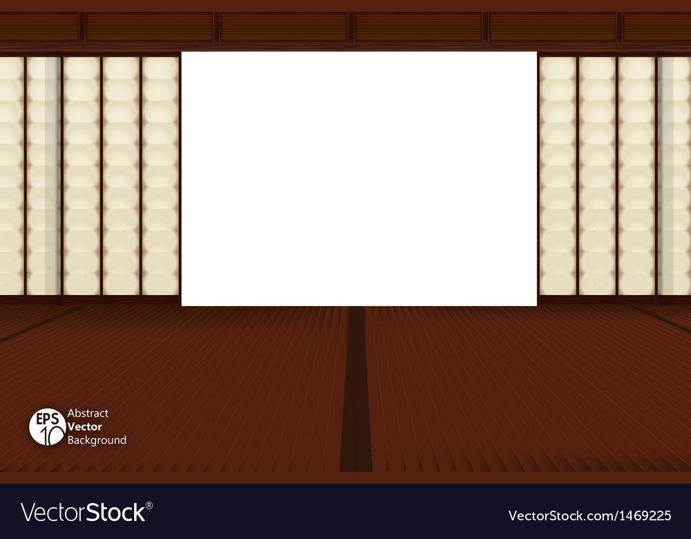 Japanese room vector