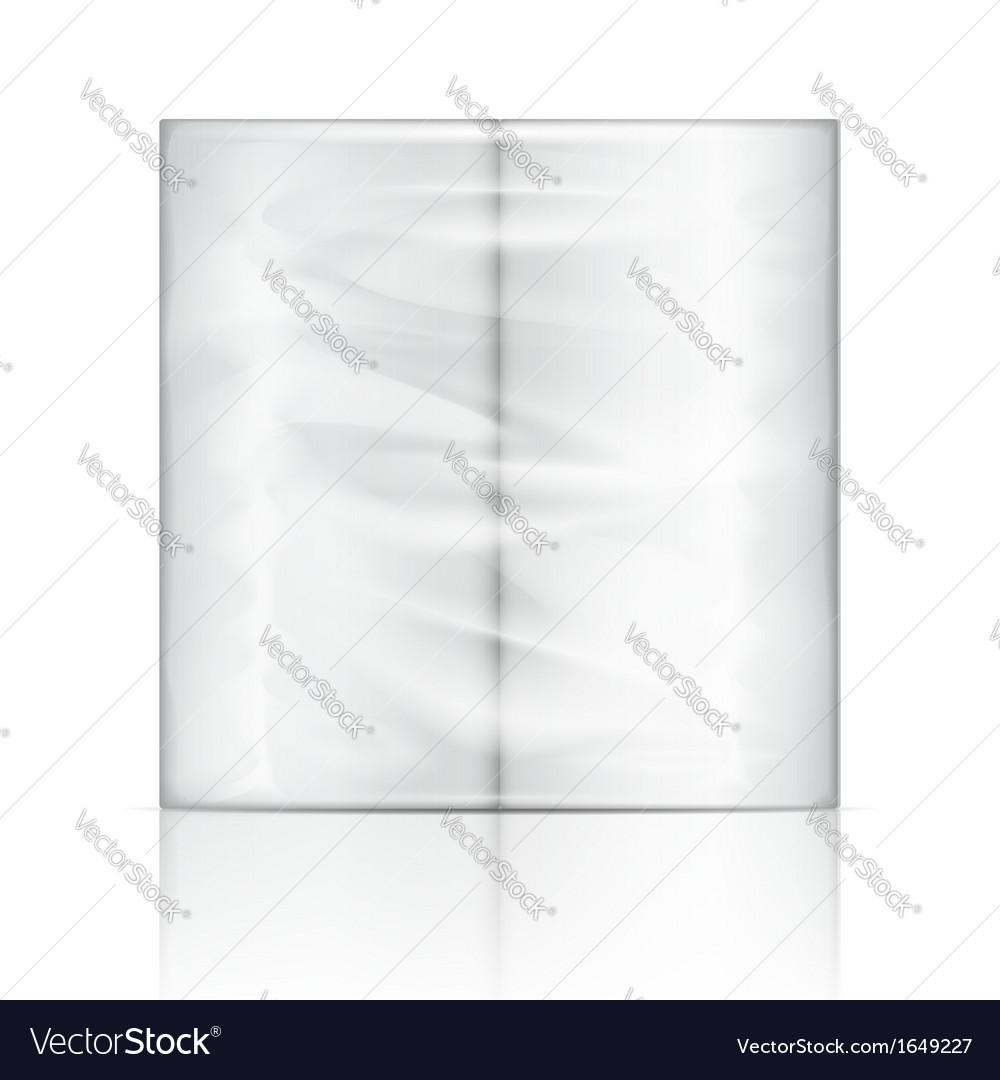 Kitchen paper towel package vector