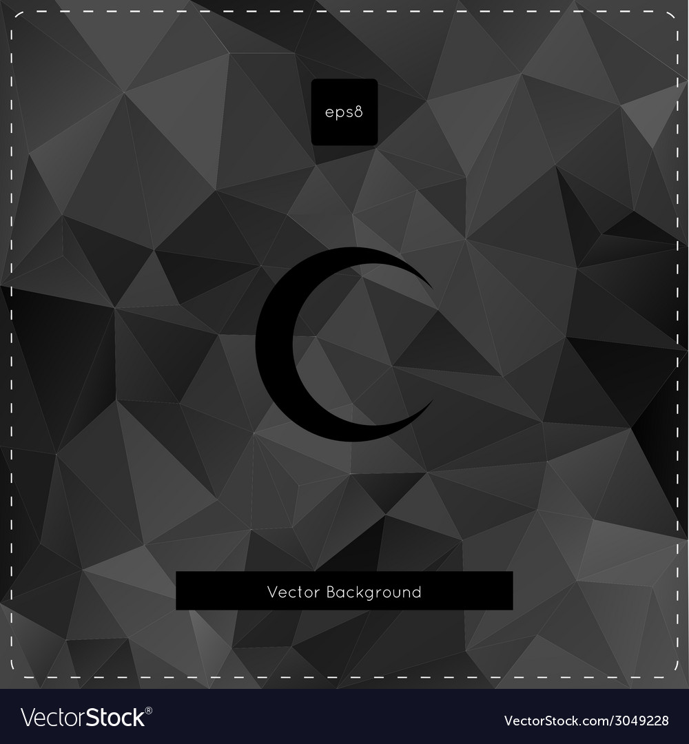Abstract black polygonal background vector