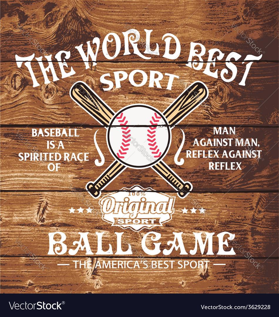 Baseball the world sport vector
