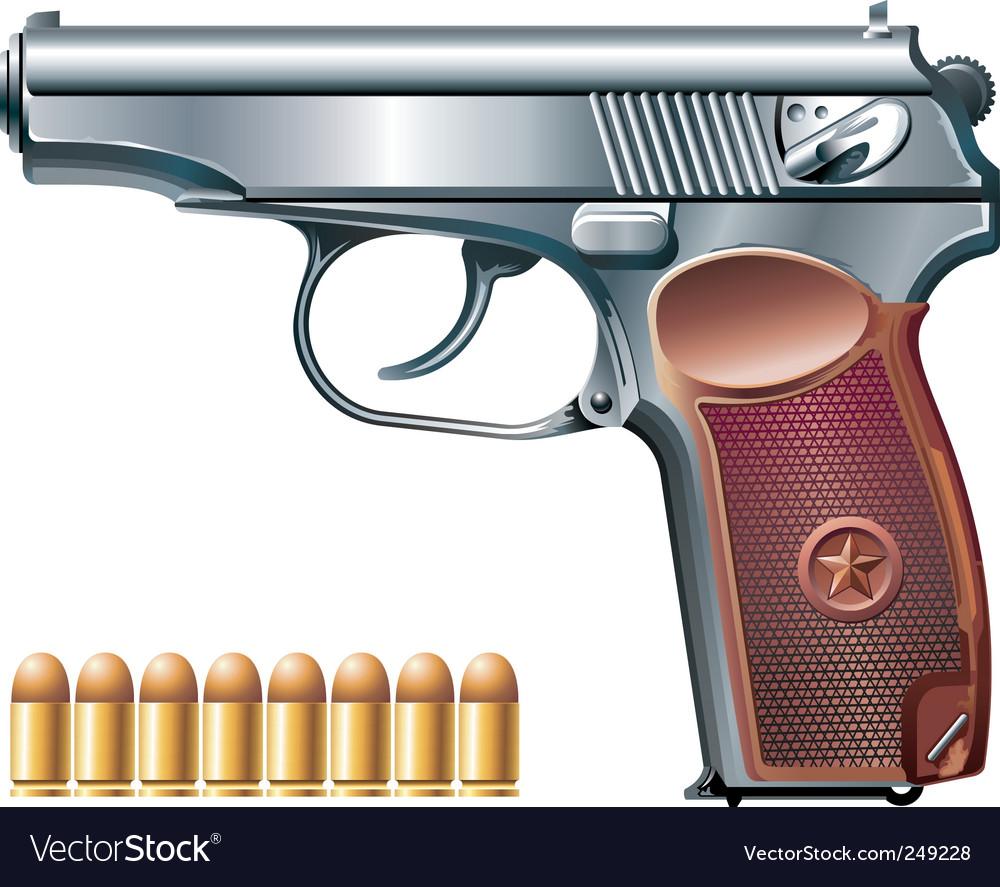 Machine pistol vector
