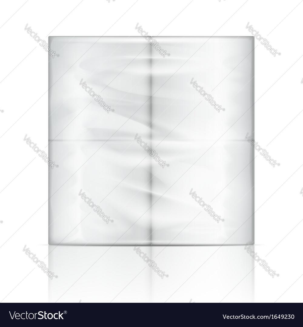 Toilet paper package vector