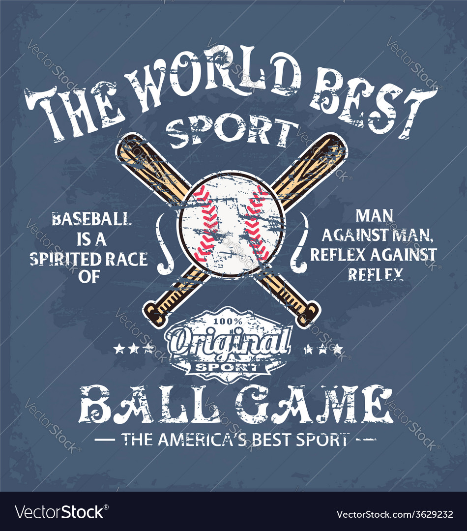Baseball world sport vector