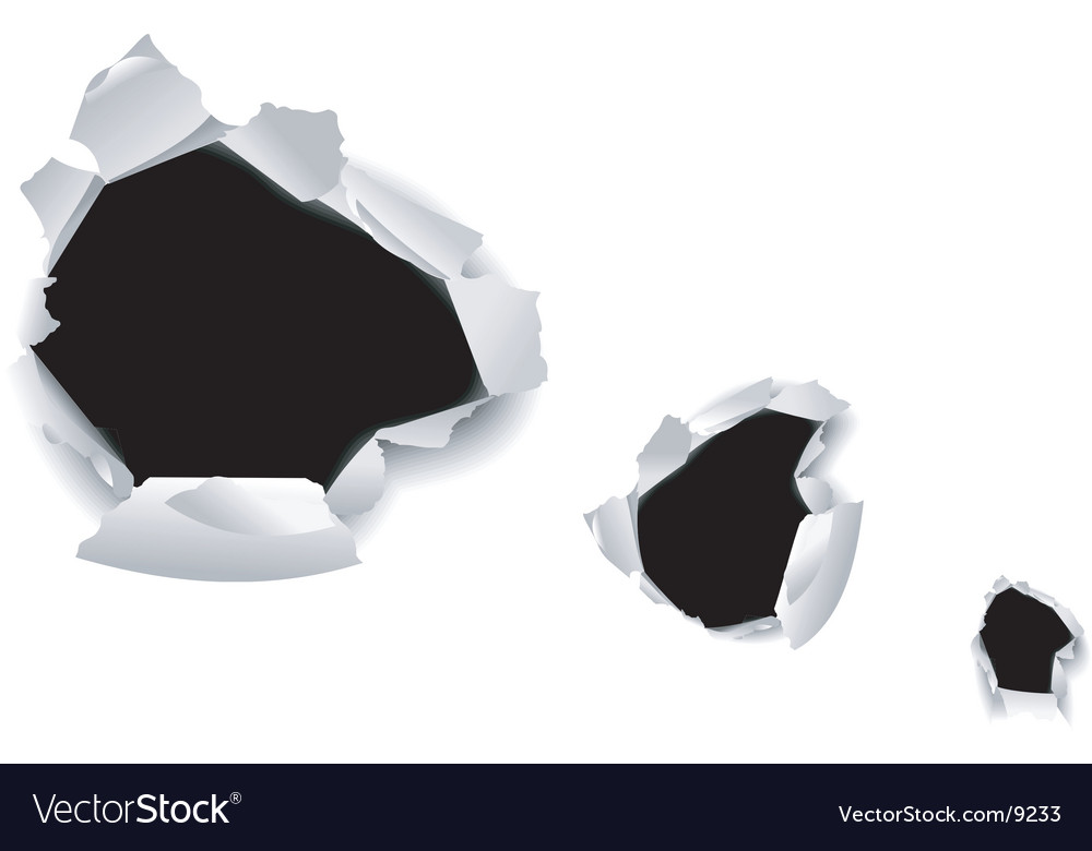 Hole in paper icon vector