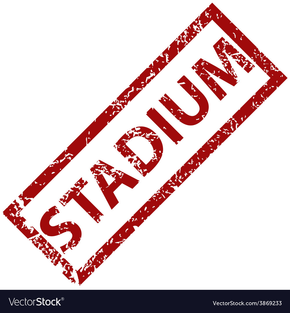 Stadium rubber stamp vector