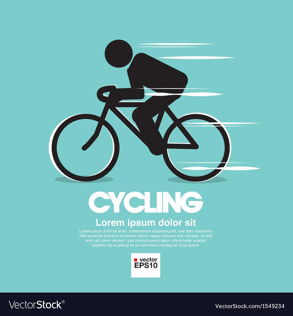 Cycling graphic symbol vector