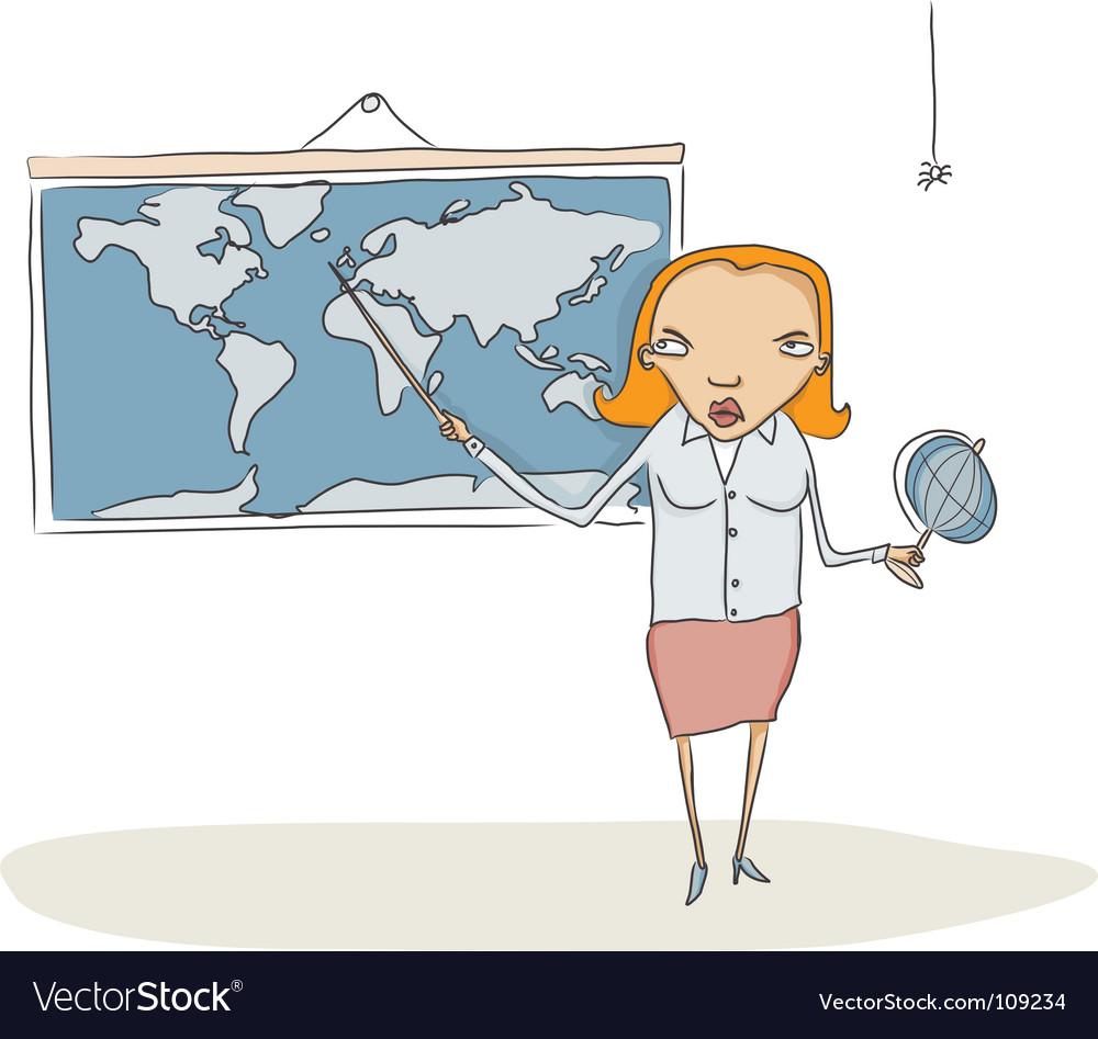 Geography teacher vector