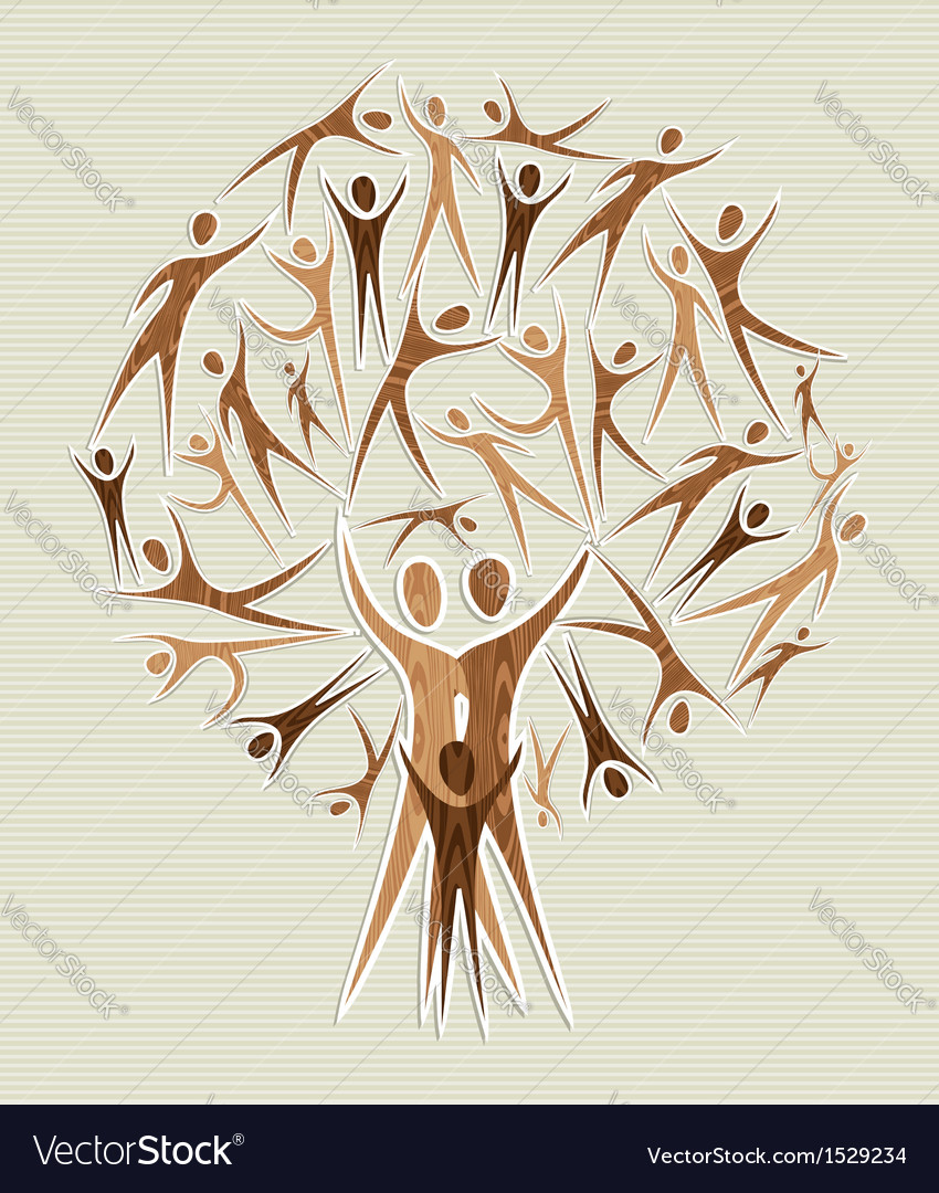 Human family tree vector
