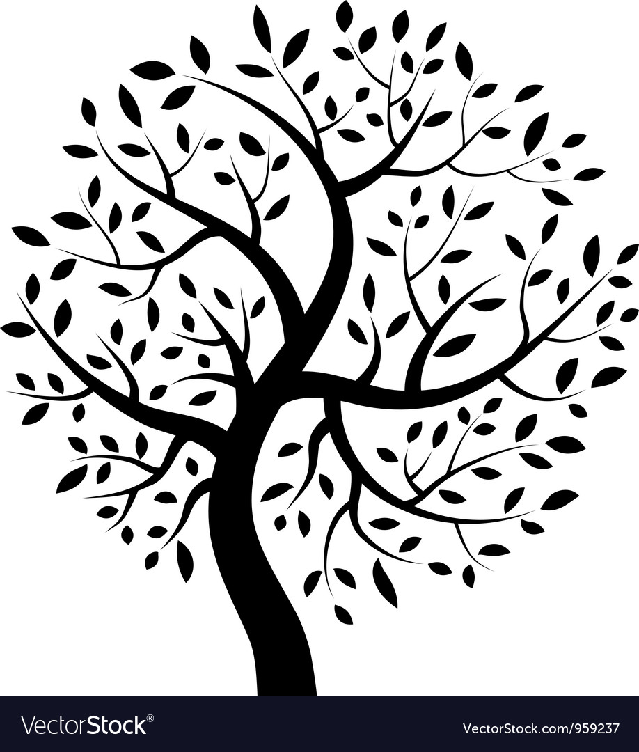 Black tree icon vector