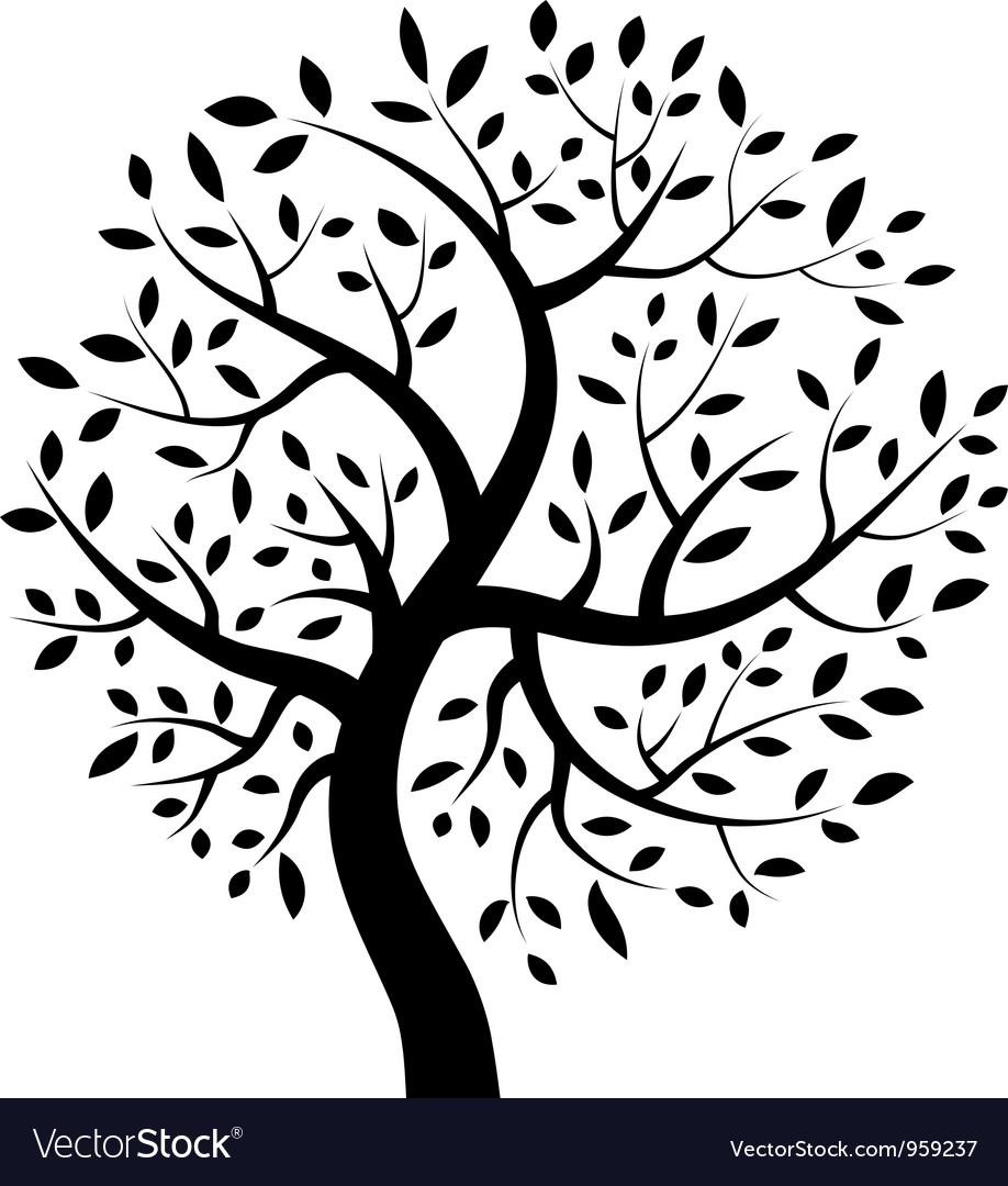 Black tree icon vector