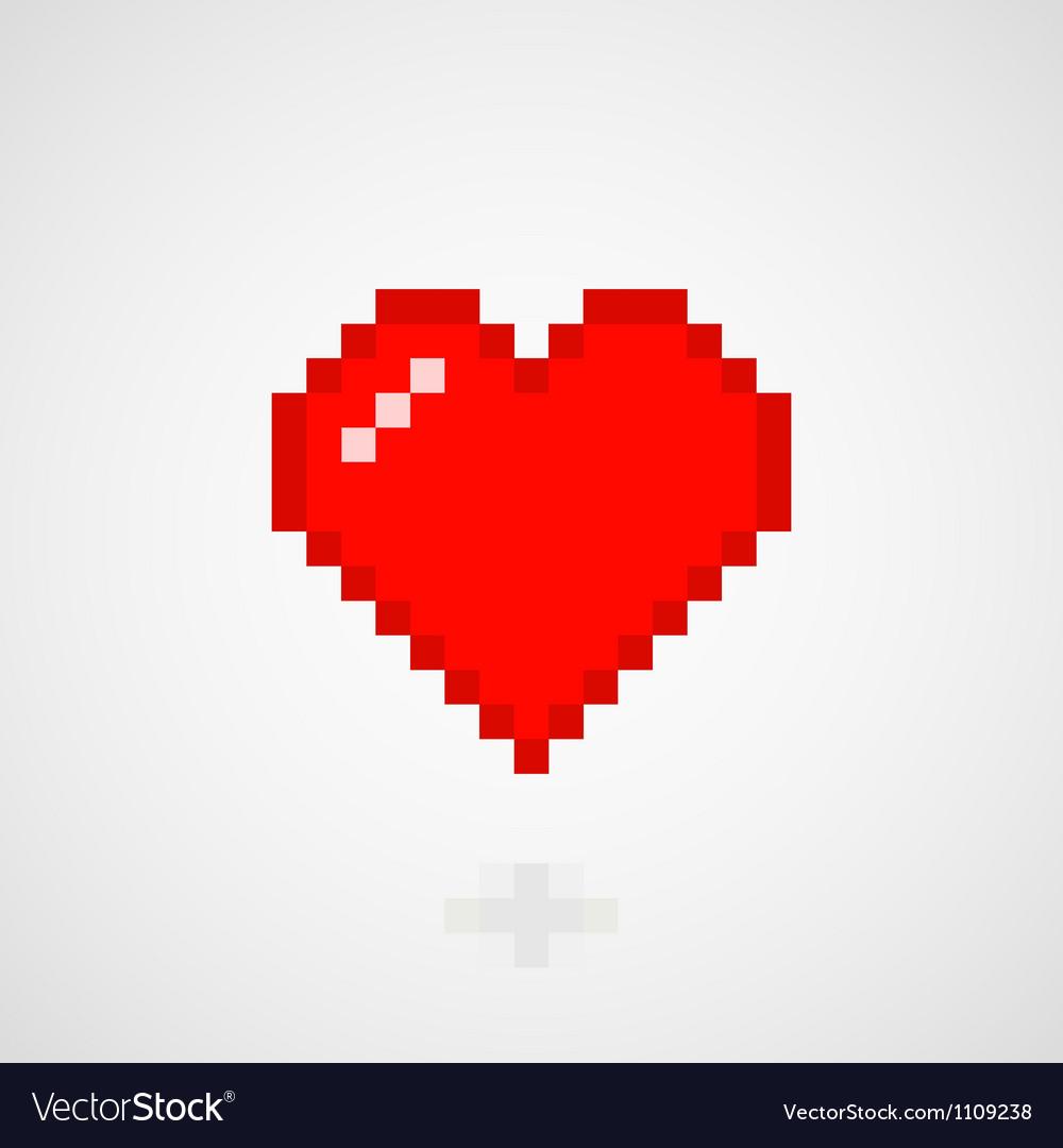 Digital heart vector