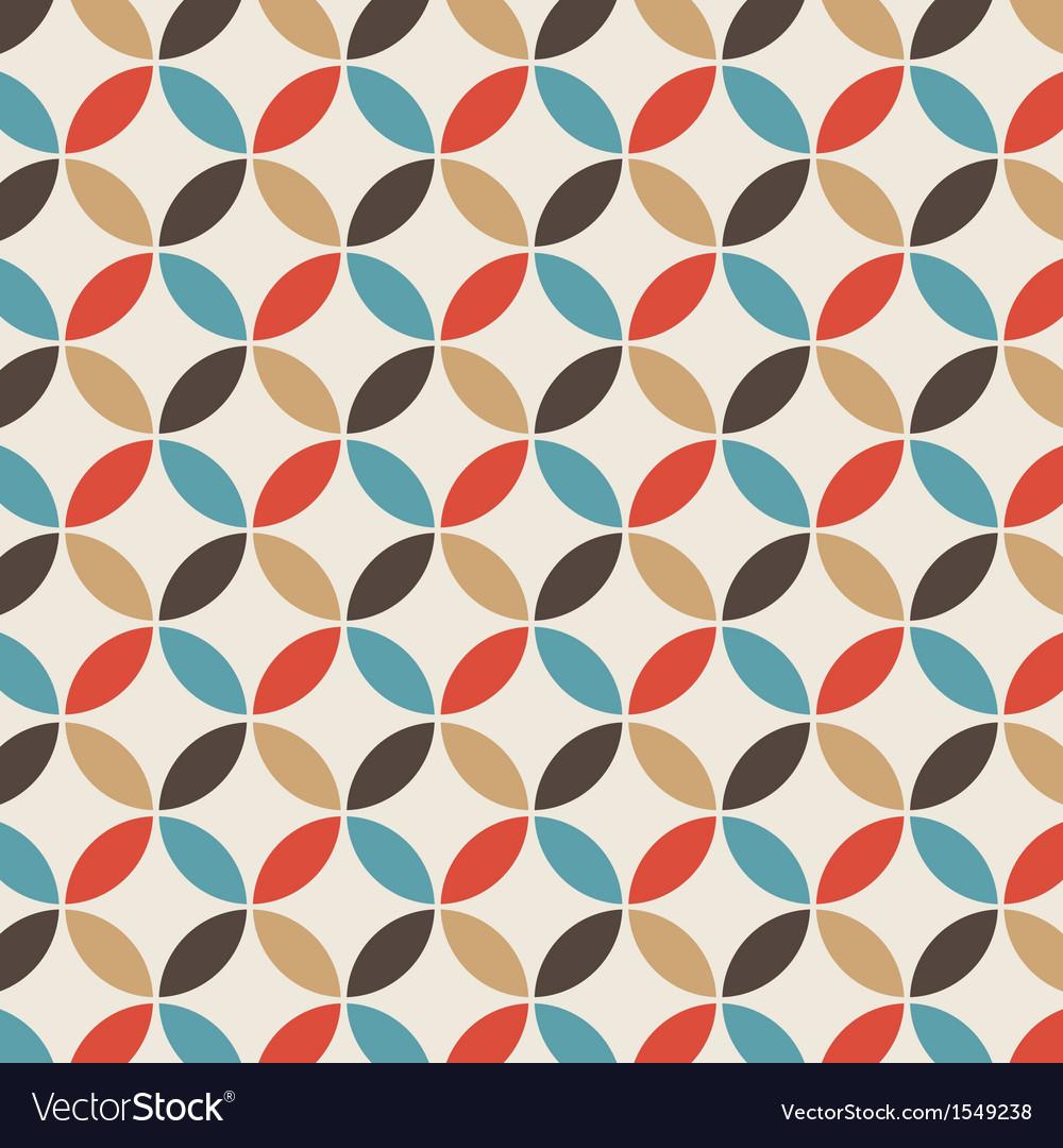 Pattern circle vintage vector