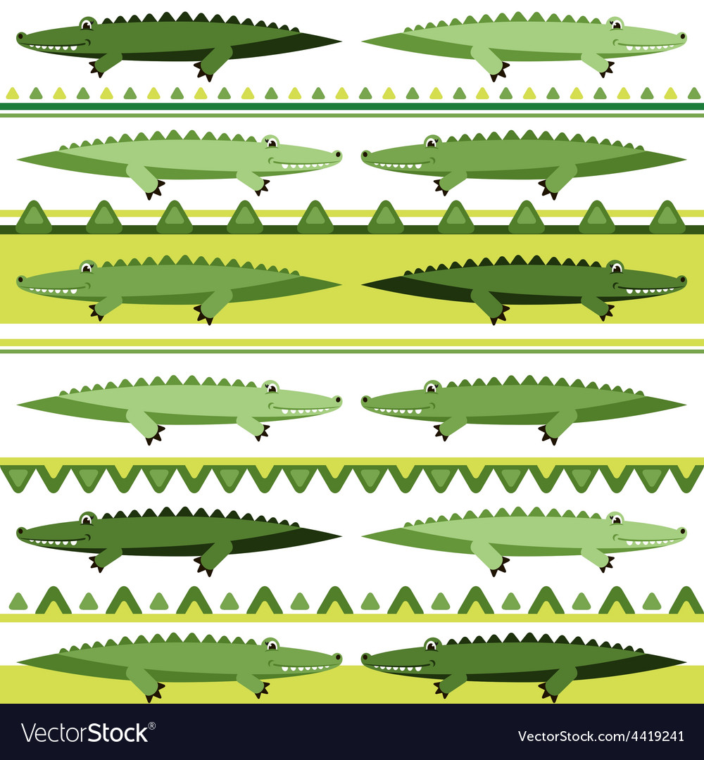 Background with crocodiles vector