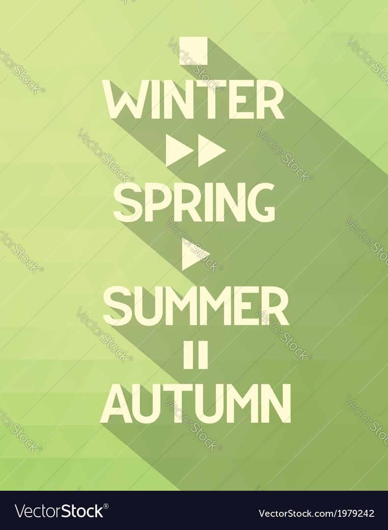 Seasons poster with concept vector
