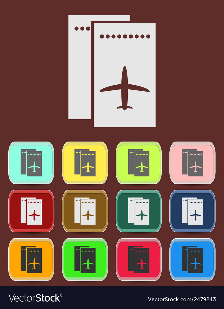 Airfare icon vector