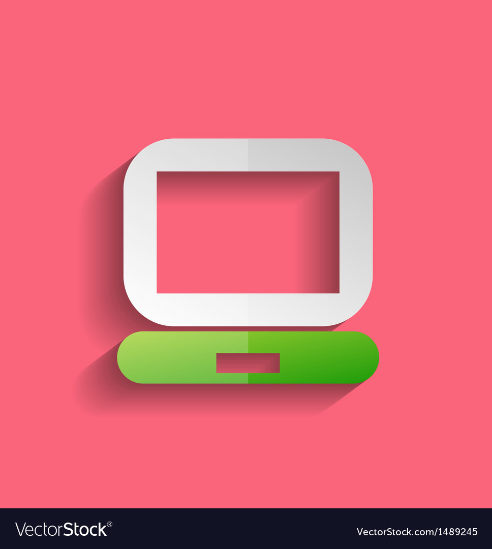Computer icon modern flat design vector
