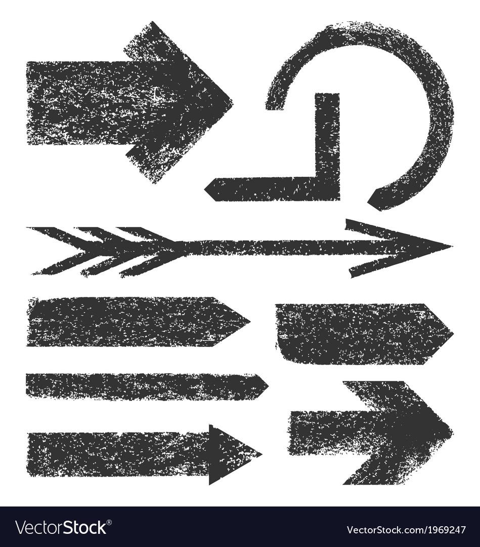 Grunge arrows collection vector