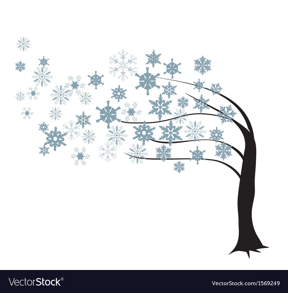 Tree in the wind vector