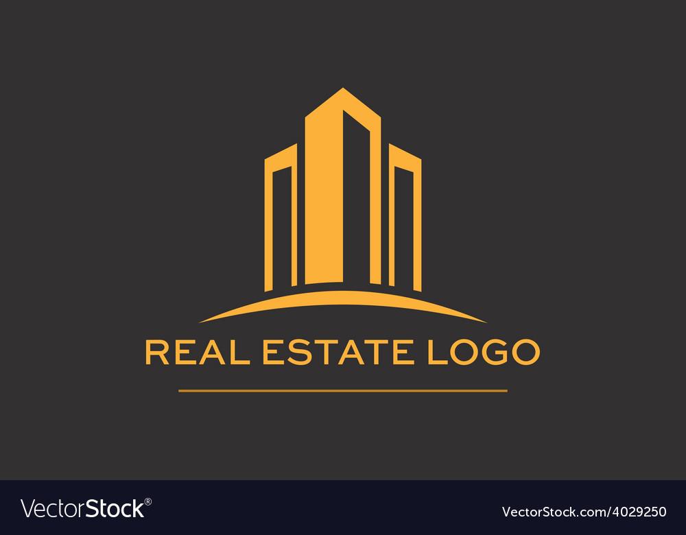 Logo real estate construction vector
