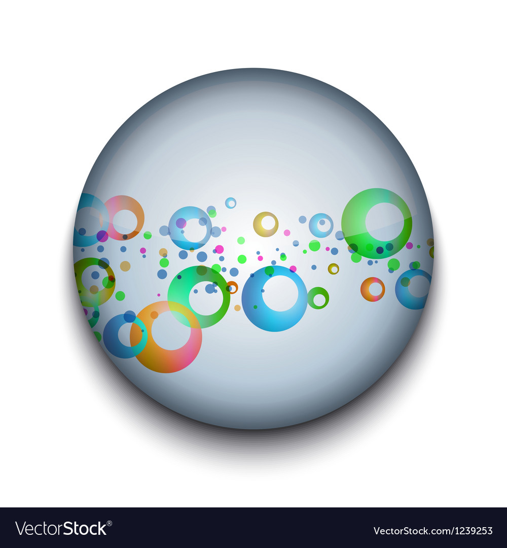 Abstract bubble app icon vector