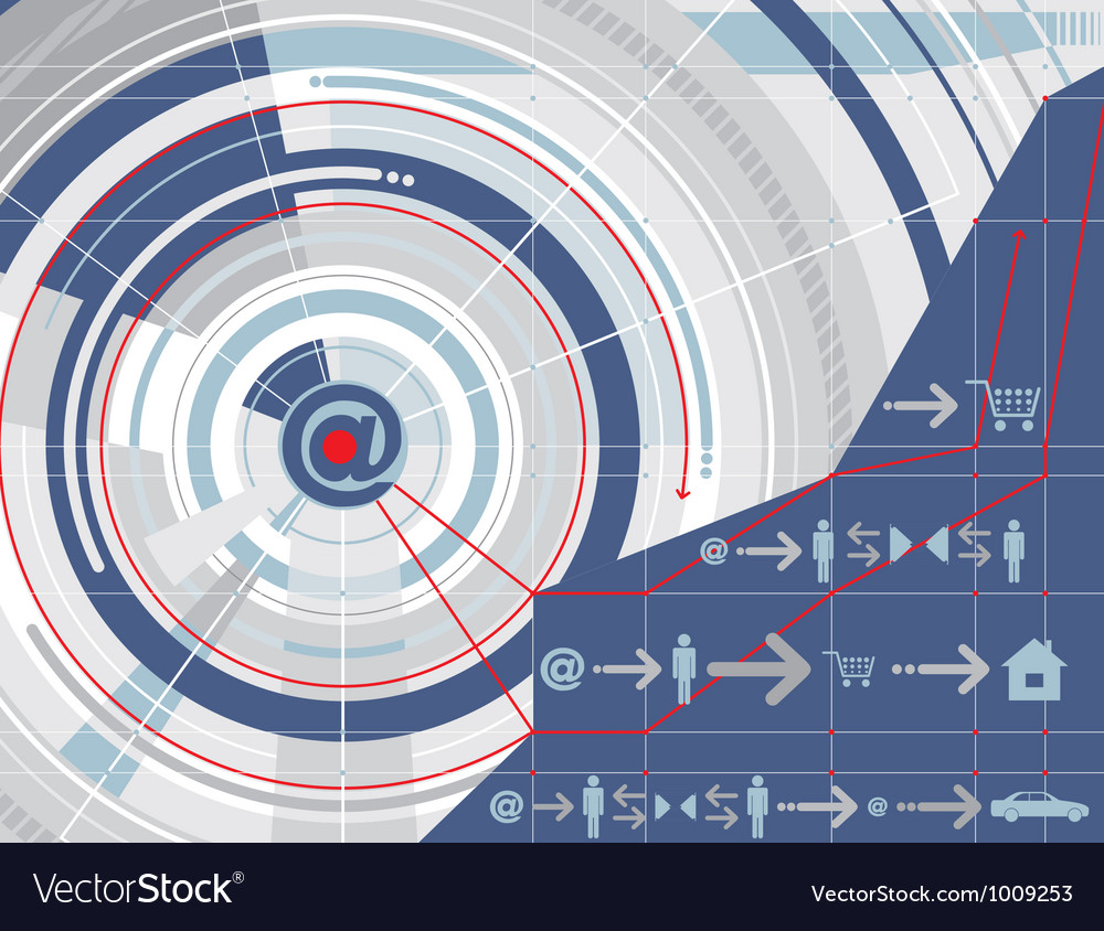 Internet technology background vector