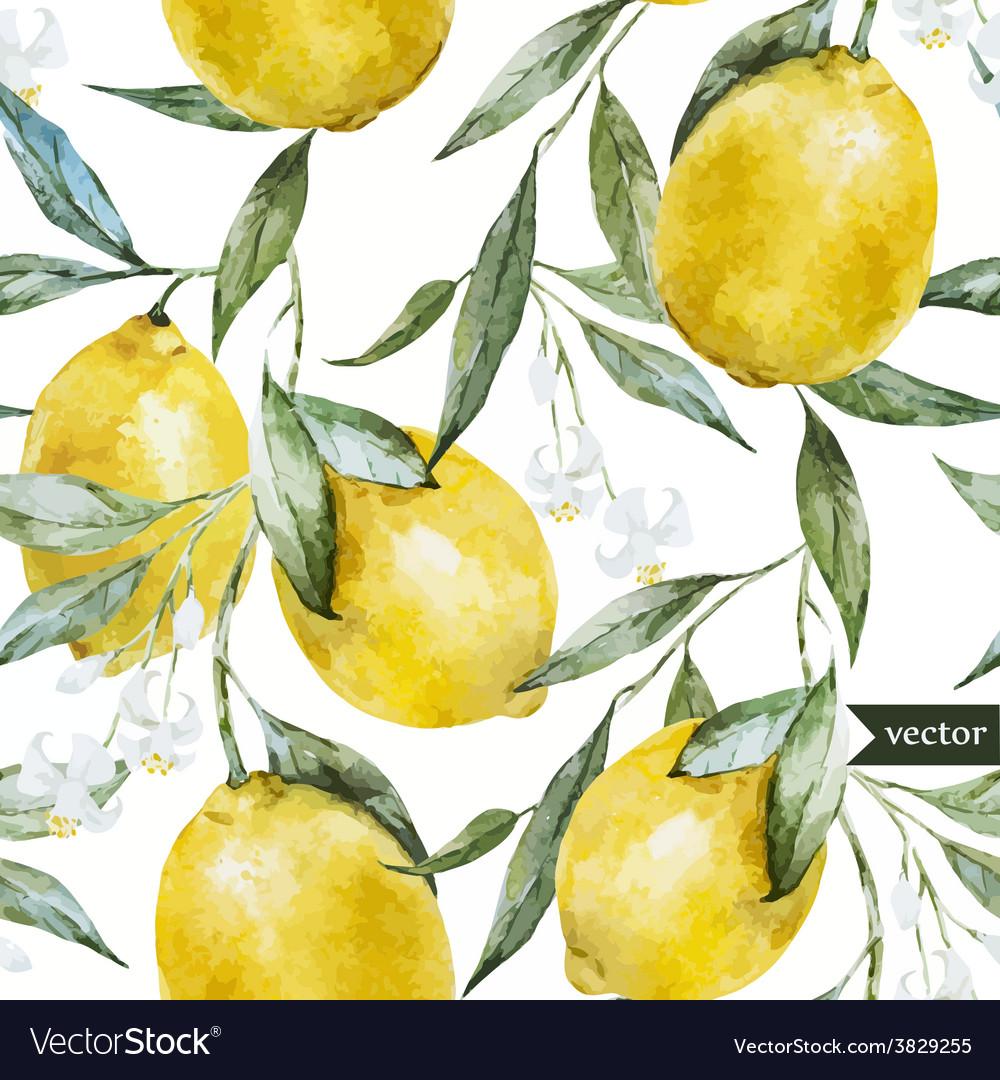 Lemon pattern7 vector