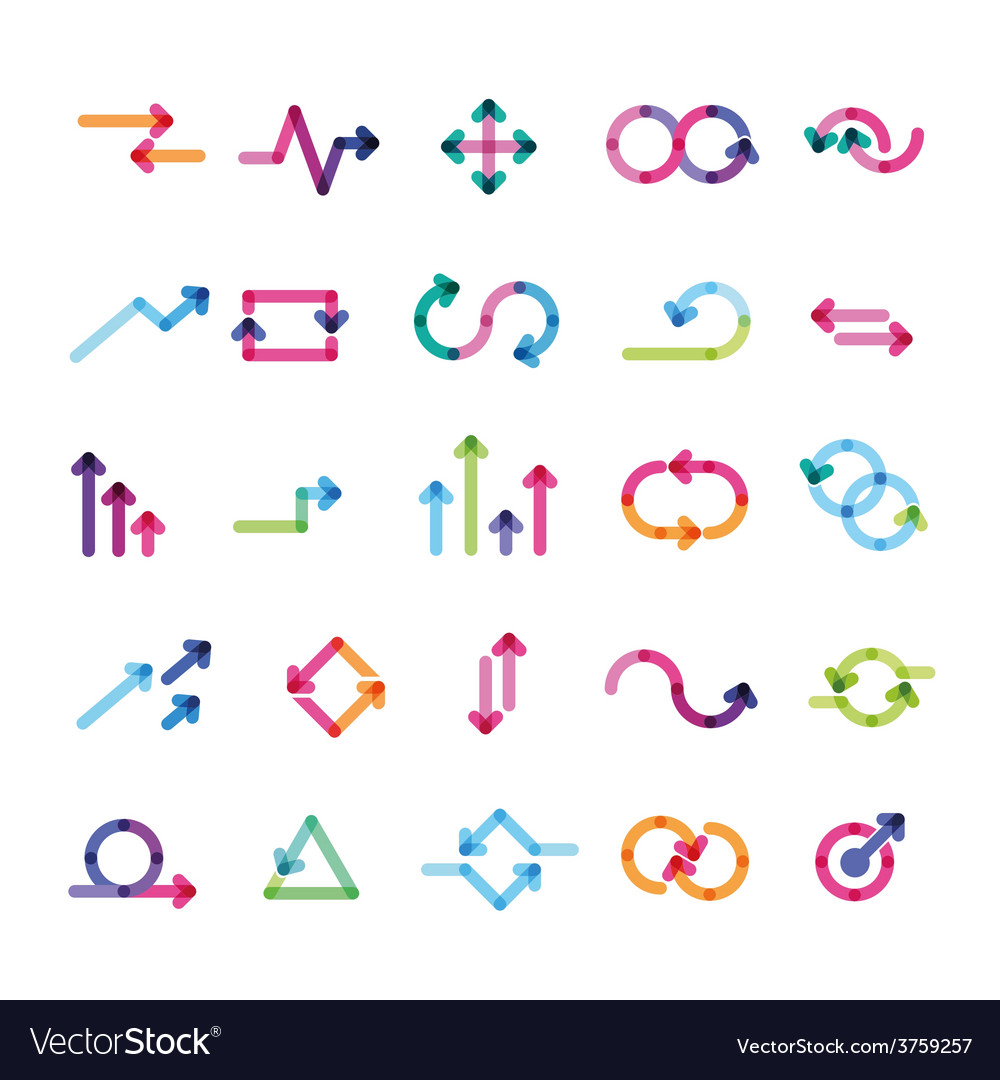 Set of arrows for infographics vector
