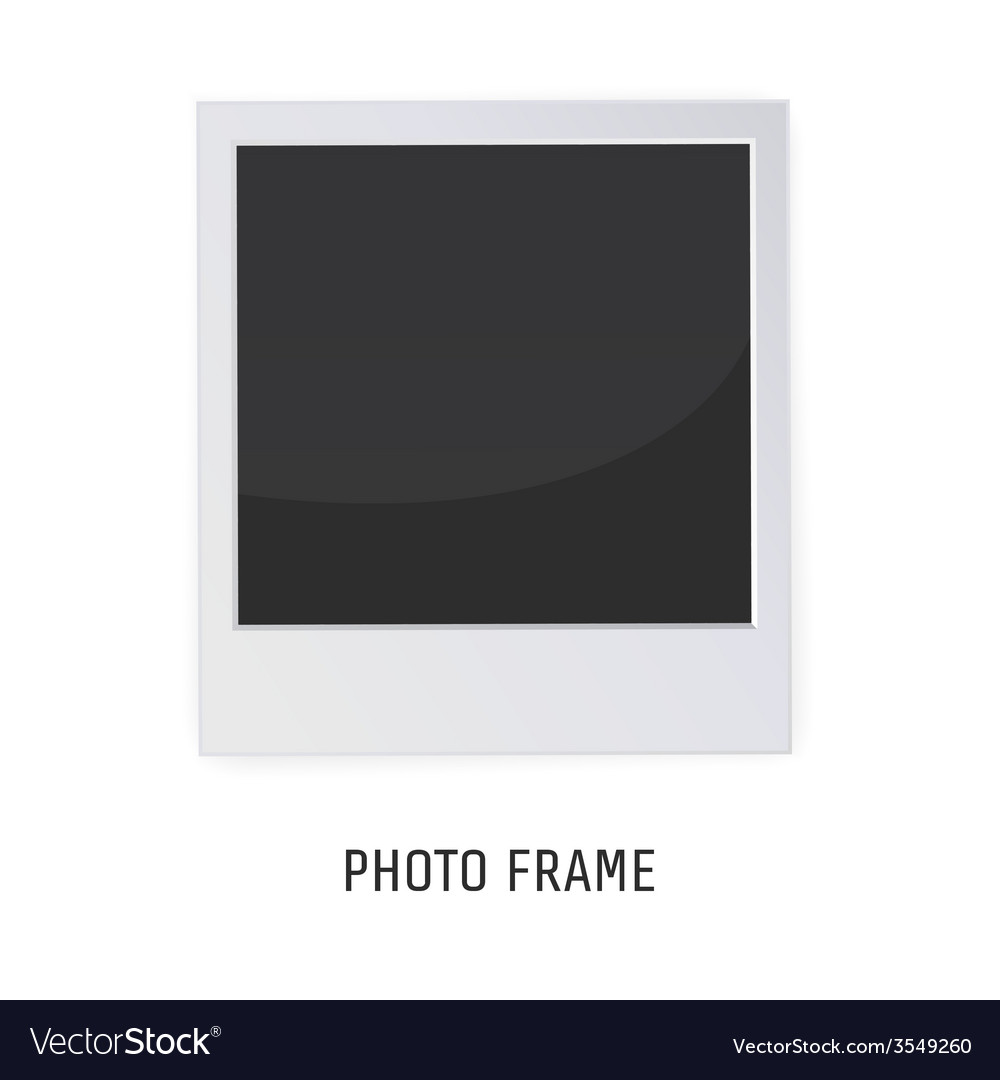 Retro photo frame isolated on a white background vector