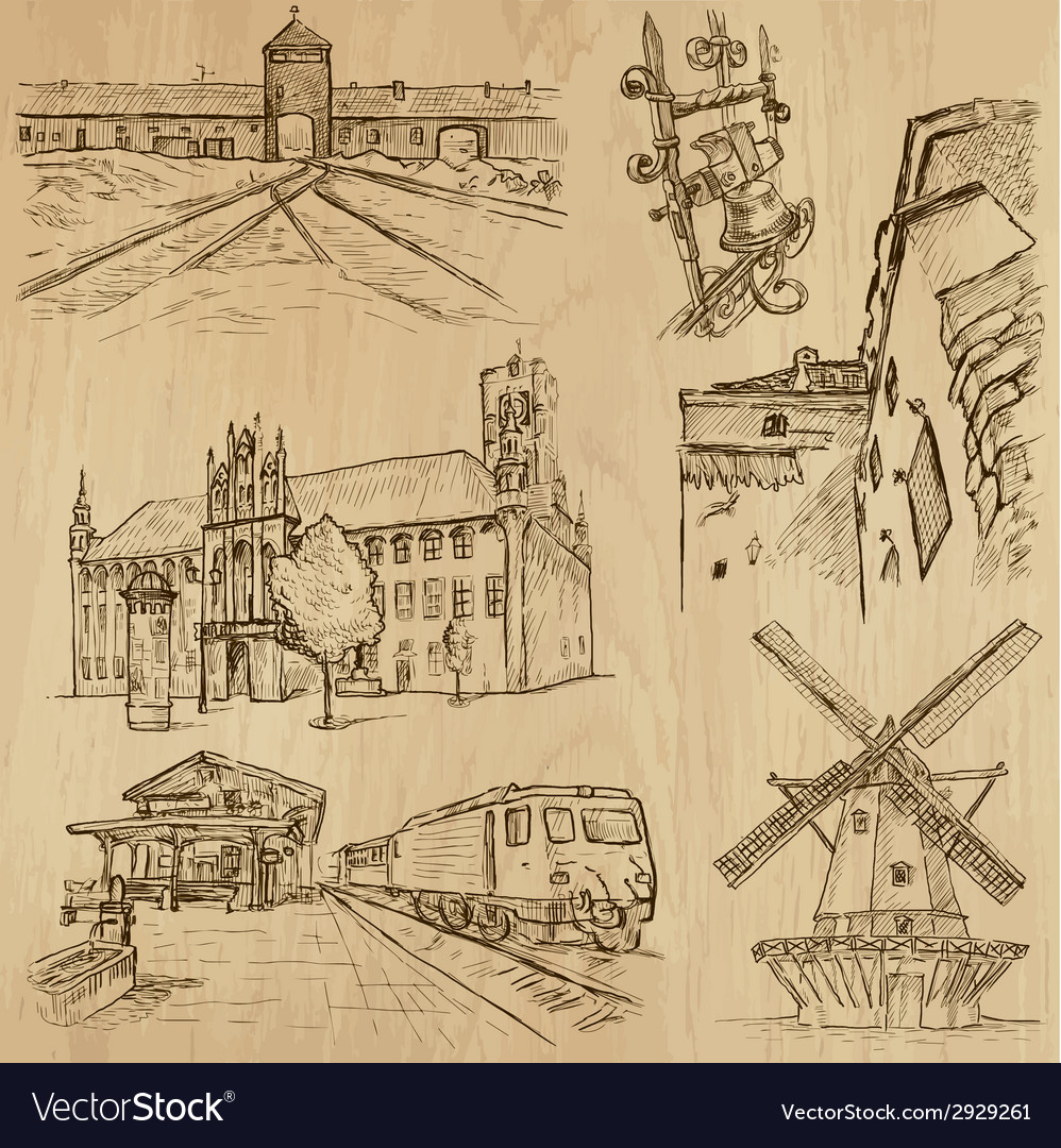 Architecture - an hand drawn vector