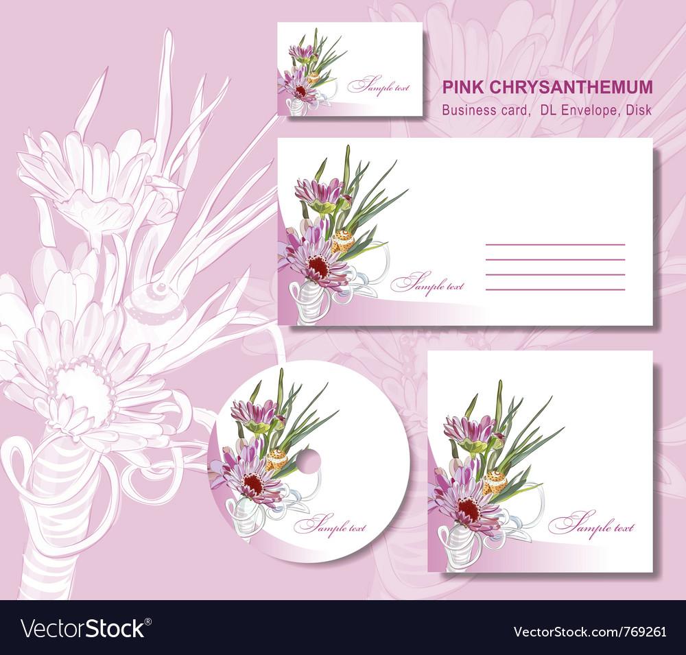 Business card envelope vector