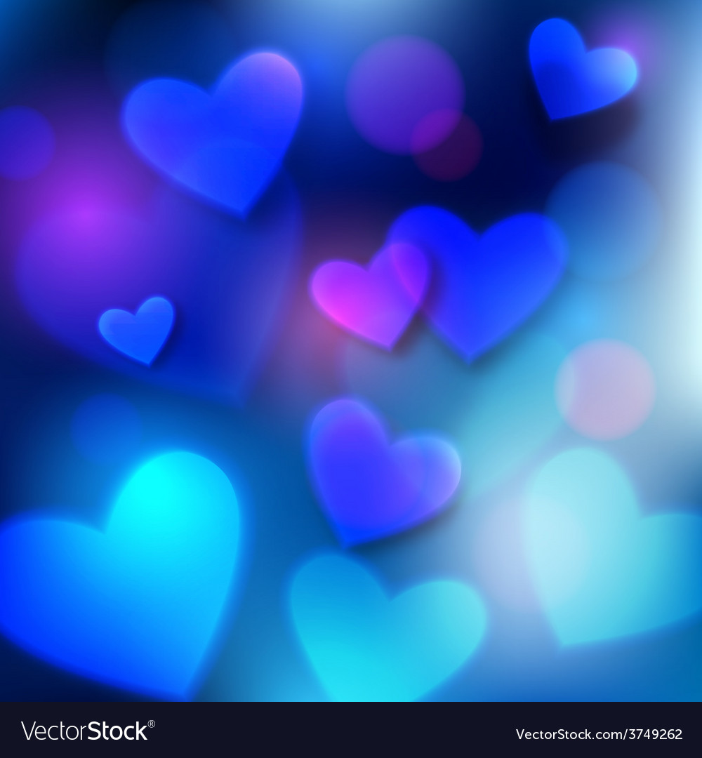 Happy valentines day typographical glow holiday vector