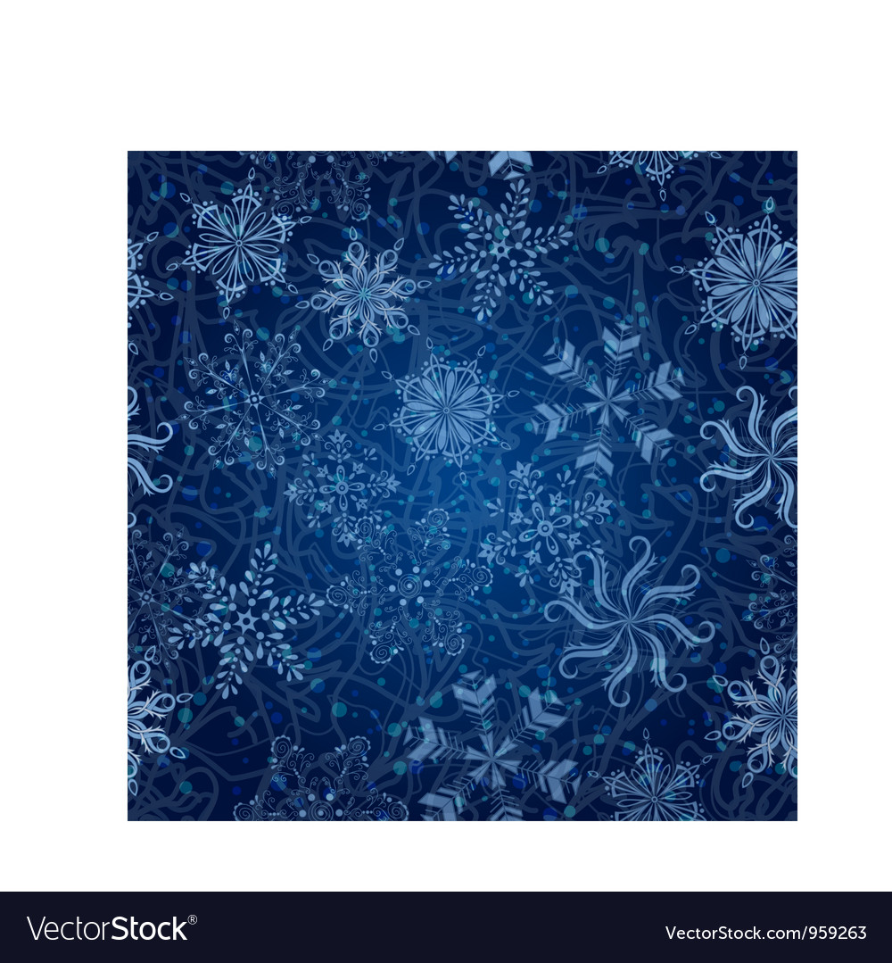 Snowflakes seamless christmas background vector