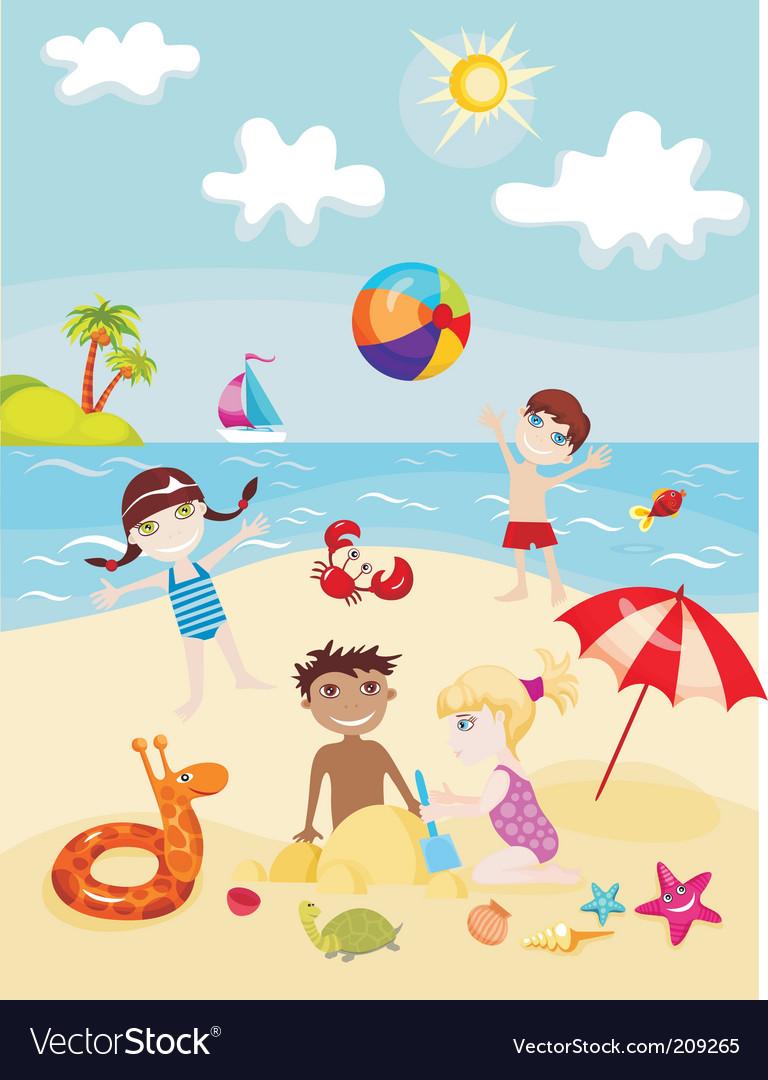 Summer card vector